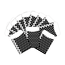 "Barker Creek Peel & Stick Library Pockets, 3"" x 5"", Black/White Dots, Pack Of 60 Pockets"