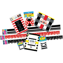 Barker Creek Classroom Décor Set, Follow Your Dreams Buffalo Plaid And Wide Stripes, Pre-K To College