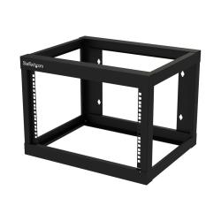 StarTech.com 6U Wall-mount Rack - Open Frame - 2 Post - 18 in. Deep - Steel - Black