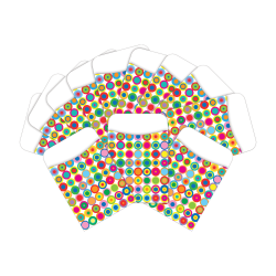 "Barker Creek Peel & Stick Library Pockets, 3"" x 5"", Disco Dot, Pack Of 60 Pockets"