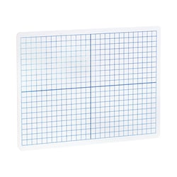 "Flipside XY Axis/Plain Dry-Erase Graph Boards, 9"" x 12"" x 1/8"", White/Blue, Pack Of 12"