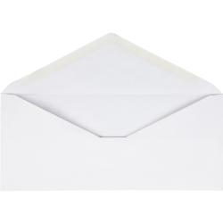 Business Source No. 10 V-Flap Envelopes - Business - #10 - 24 lb - Gummed Flap - Wove - 250 / Box - White