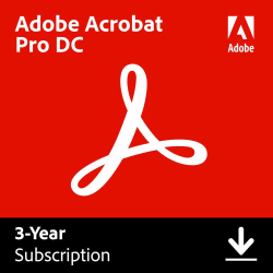 Adobe® Acrobat® Professional DC, 3-Year Subscription, Windows®/Mac®, Download