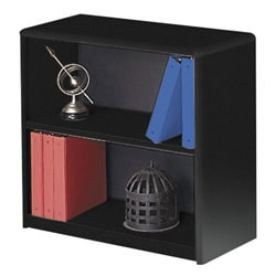 Safco® Value Mate® Steel Bookcase, 2 Shelves, Black