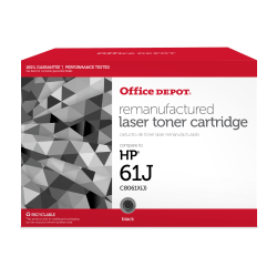 Office Depot® Brand OD61EHY Remanufactured Extended High-Yield Black Toner Cartridge Replacement For HP61X