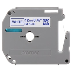 "Brother® MK-233 Blue-On-White Tape, 0.5"" x 26.2'"