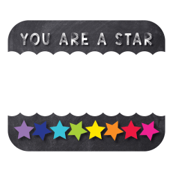 Carson-Dellosa Schoolgirl Style You Are a STAR Name Tags, Pack Of 40 Tags