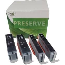 IPW Preserve Brand 250XL/251XL High-Yield Black Ink Cartridges, Pack Of 4 Cartridges