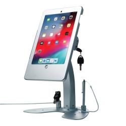"CTA Digital Anti Theft Security Kiosk Stand?For Ipad 2-4 & Ipad Air 1-2 - Up to 9.7"" Screen Support - 8.5"" Height x 15"" Width x 10.5"" Depth - Desktop, Countertop - Aluminum, Cast Aluminum"