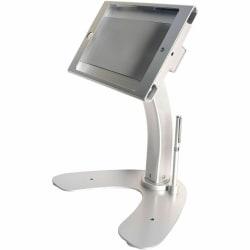 "CTA Digital Anti-Theft Security Kiosk Stand for iPad mini 1-4 - Up to 13"" Screen Support - 10.5"" Height x 8.5"" Width x 10.8"" Depth - Desktop, Countertop - Aluminum, Cast Aluminum - Silver"