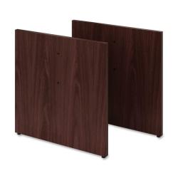 HON® Preside™ Boat-Shaped Conference Table Panel Base, Mahogany, Carton Of 2