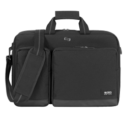 "Solo® Duane Hybrid Briefcase With 15.6"" Laptop Pocket, Black"