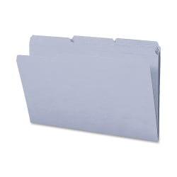Smead® 1/3-Cut 2-Ply Color File Folders, Legal Size, Gray, Box Of 100
