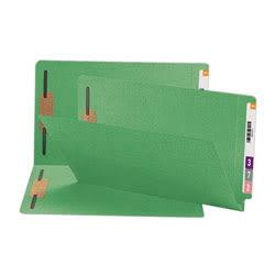Smead® Shelf-Master® Color Fastener Folders, Legal Size, Green, Box Of 50
