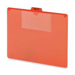 Smead® Vinyl Top-Tab Out Guides, Letter Size, Red, Box Of 50