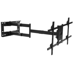 "Mount-It MI-372 Articulating TV Wall Mount With Extra-Long Extension For Screens 42 - 80"", 12""H x 37""W x 4-1/8""D, Black"