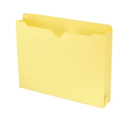"""Smead® Expanding Reinforced Top-Tab File Jackets, 2"""" Expansion, Letter Size, Yellow, Box Of 50"""