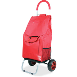 """dbest Shopping Trolley Dolly - 110 lb Capacity - x 16"""" Width x 13"""" Depth x 38"""" Height - Aluminum Frame - Red - 1 Each"""