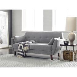Serta® Artesia Collection Sofa, Smoke Gray/Chestnut