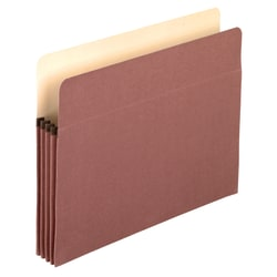 "Pendaflex® Redrope 100% Recycled Expandable File Pockets, 3 1/2"" Expansion, Letter Size, Brown, Pack Of 25"