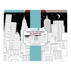 Barker Creek File Folders, Letter Size, Color Me! Cityscapes, Pack Of 12