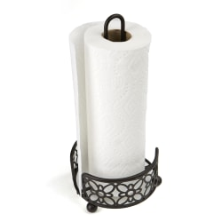 Mind Reader Freestanding Metal Paper Towel Holder, Black