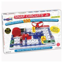 """Elenco Electronics Snap Circuits Jr.® 100 Experiments Set, 1 3/4""""H x 9 3/4""""W x 15""""D, Grades 3-12"""