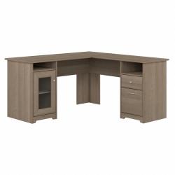 "Bush® Furniture Cabot 60""W L-Shaped Computer Desk, Ash Gray, Standard Delivery"