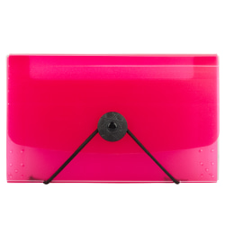 "JAM Paper® Coupon Size Expanding File, 3"" Expansion, 4"" x 6"", Pink"