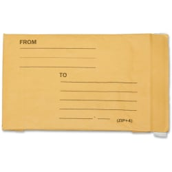 "SKILCRAFT® Kraft Lightweight Cushioned Mailers, 8 1/2"" x 12"", Kraft, Pack Of 100 (AbilityOne 8105-00-117-9869)"
