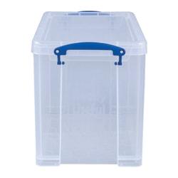 "Really Useful Box® Plastic Storage Box, 19 Liters, 14 1/2"" x 10 1/4"" x 11 1/8"", Clear"