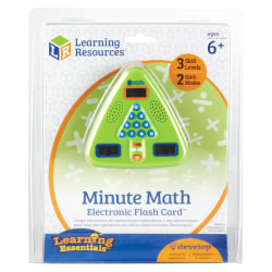 """Learning Resources® Minute Math Electronic Flash Card™, 5"""" x 5"""", Grades 1-3"""