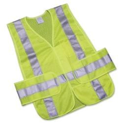 SKILCRAFT® 360? Visibility Safety Vest, One Size, Orange/Lime Silver (AbilityOne 8415-01-598-4873)