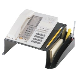 """OIC® 2200 Series Telephone Stand, 5 1/8""""H x 12 1/2""""W x 10 1/2""""D, Black"""