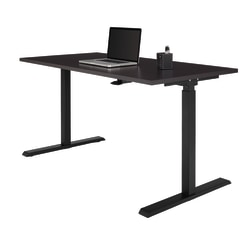 "Realspace® Magellan Pneumatic Height-Adjustable Standing Desk, 60"", Espresso"