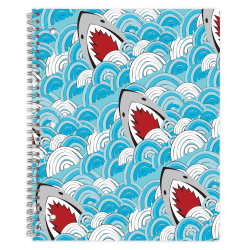 "Office Depot® Brand Fashion Notebook, 8-1/2"" x 10-1/2"", Wide Ruled, 160 Pages (80 Sheets), Shark"