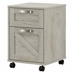 Kathy Ireland Home by Bush® Furniture Cottage Grove 2 Drawer Mobile File Cabinet, Cottage White, Standard Delivery