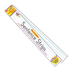 """TREND Wipe-Off® Sentence Strips, 3"""" x 24"""", White, Kindergarten - Grade 6, 30 Strips Per Pack, Set Of 4 Packs"""