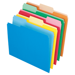 Office Depot® File Folders, Letter Size, 1/3 Cut, Assorted Colors, Box Of 100 Folders