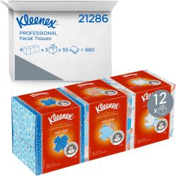 Kleenex® Anti-Viral® 3-Ply Facial Tissue, White, 68 Sheets Per Box, Carton Of 12