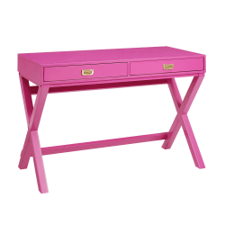 Linon Home Décor Products Ari Home Office Writing Desk, Raspberry