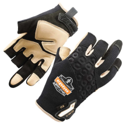 Ergodyne ProFlex 720LTR Heavy-Duty Leather-ReinforcedFraming Gloves, Medium, Black