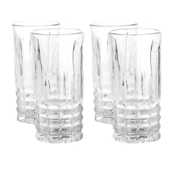 Gibson Home Jewelite 4-Piece Tumbler Set, 11 Oz, Clear