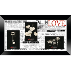 """PTM Images Photo Frame, Fall In Love, 22""""H x 1 1/4""""W x 12""""D, Black"""