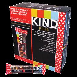 KIND Snack Bars, Dark Chocolate Cherry Cashew, 1.4 Oz, Box Of 12