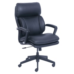 Lorell® Incite Bonded Leather High-Back Chair, Black