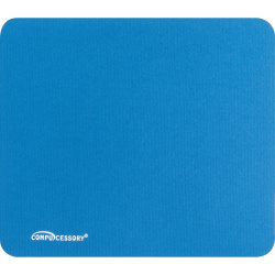 """Compucessory Smooth Cloth Nonskid Mouse Pads - 9.50"""" x 8.50"""" Dimension - Blue - Rubber Base, Cloth - 1 Pack"""