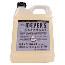 Mrs. Meyer's Clean Day Liquid Hand Soap, Lavender Scent, 33 Oz, Carton Of 6 Bottles