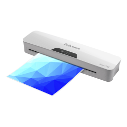 """Fellowes® Halo 125 Laminator With Pouch Starter Kit, 12-1/2"""" Width, White"""