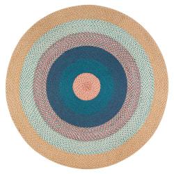 "Anji Mountain Vinho Verde Round Area Rug, 48"", Multicolor"